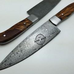 Damascus Steel Kitchen Knife Modern Islands Regular Custom Handmade Steel4