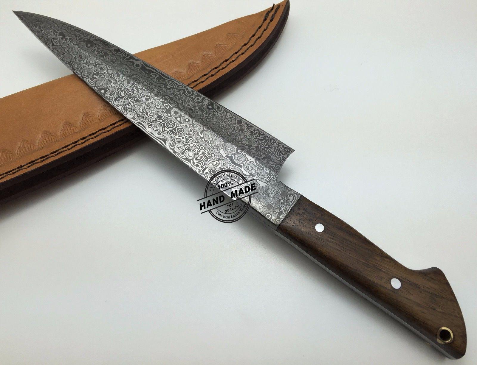 damascus steel kitchen knife table for 2 custom handmade