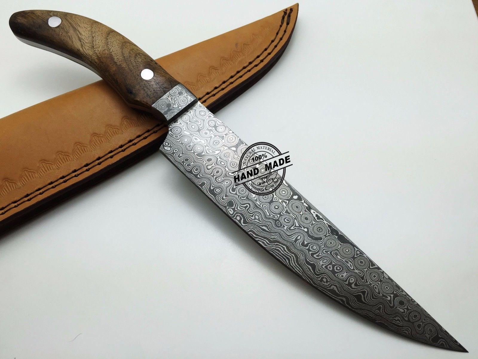 damascus steel kitchen knife granite custom handmade
