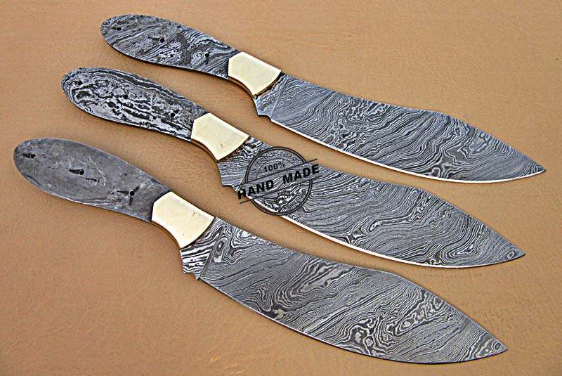 professional kitchen knives standard table size lot of 3 pcs blank blade set custom