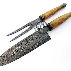 Damascus Steel Kitchen Knife Chairs Cheap Chef Knives Set Custom Handmade