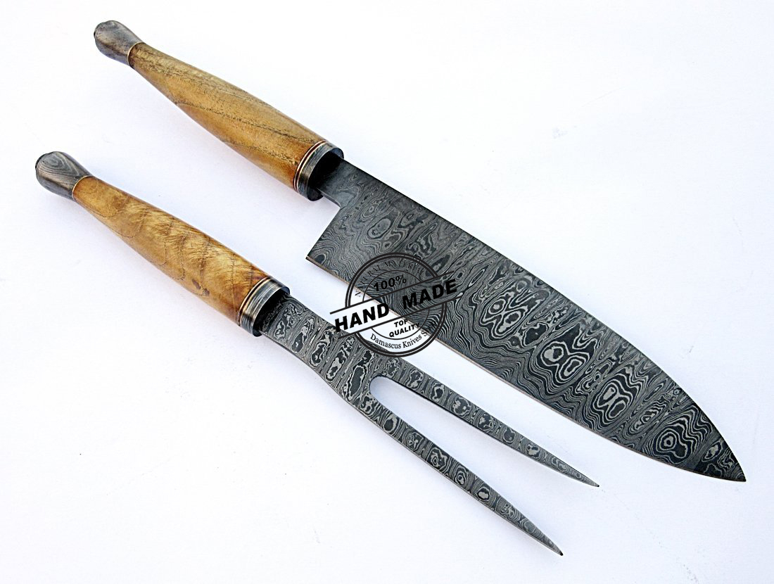 damascus steel kitchen knife recycled kitchens chef knives set custom handmade