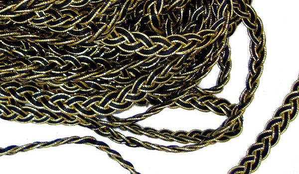 Текстилна лента със златни нишки