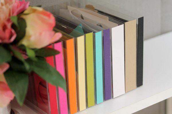 DIY Scrap Paper Library   Damask Love Blog