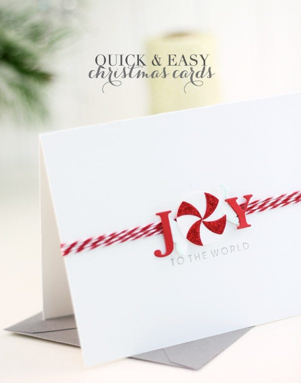 Quick & Easy DIY Holiday Card Ideas Damask Love