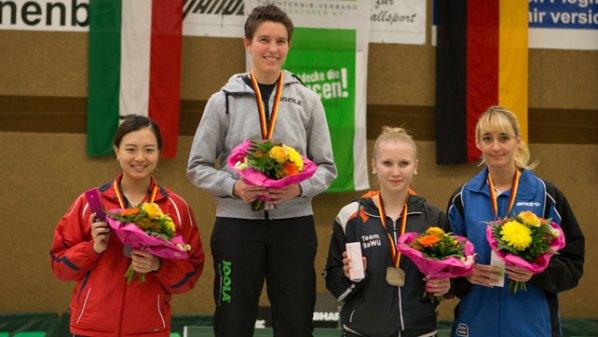Podium des Bundesranglistenfinales 2016 | Damen Tischtennis-Bundesliga