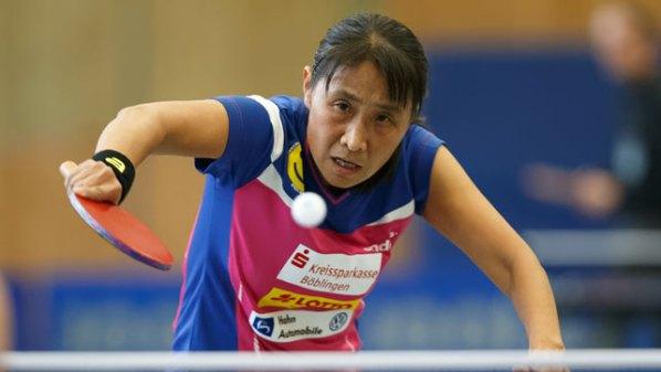 Qianhong Gotsch, SV Böblingen | Damen Tischtennis-Bundesliga © Holger Straede