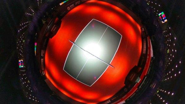 Tischtennis-Arena in der Messe Düsseldorf im 360 Grad-Winkel | Damen Tischtennis-Bundesliga