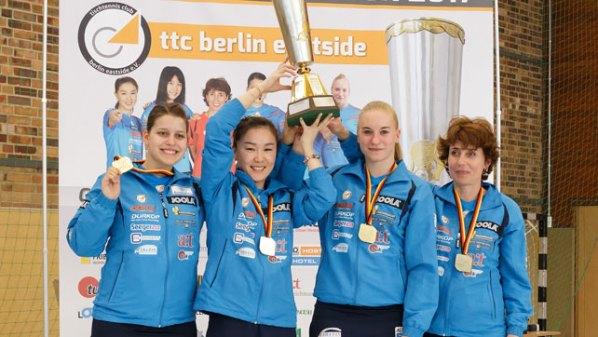 Meister 2017 - ttc berlin eastside | Damen Tischtennis-Bundesliga