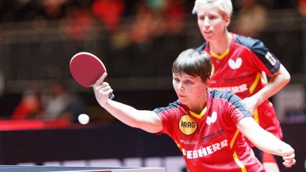 Liebherr Tischtennis-WM 2017: Nina Mittelham und Kristin Silbereisen, Deutschland | Damen Tischtennis-Bundesliga ©Holger Straede