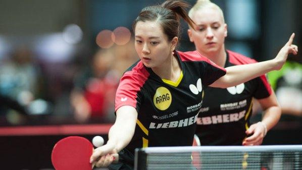 Liebherr Tischtennis-WM 2017: Yuan Wan und Chantal Mantz, Deutschland | Damen Tischtennis-Bundesliga