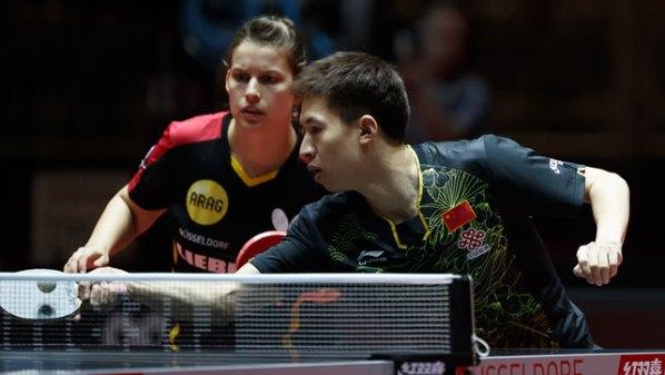 Liebherr Tischtennis-WM 2017: Petrissa Solja, GER unf Fang Bo, CHN im Mixed   Damen Tischtennis-Bundesliga