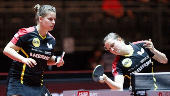 Liebherr Tischtennis-WM 2017: Petrissa Solja und Sabine Winter | Damen Tischtennis-Bundesliga ©Holger Straede