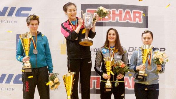 Die Platzierten der Deutsche Meisterschaften im Damen-Einzel   Damen Tischtennis-Bundesliga © Holger Straede