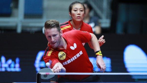 Mixed-Europameister: Ruwen Filus und Han Ying, Deutschland | Damen Tischtennis-Bundesliga