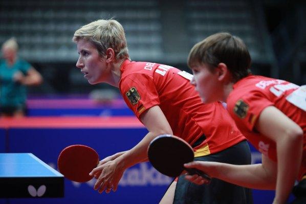 Damen-Europameisterinnen: Kristin Land und Nina Mittelham, Deutschland | Damen Tischtennis-Bundesliga