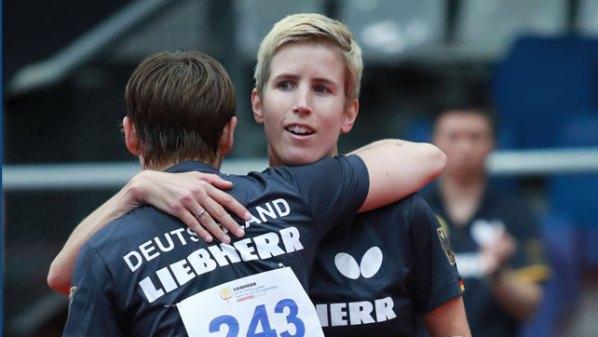 Damen-Doppel: Nina Mittelham und Kristin Lang, Deutschland | Damen Tischtennis-Bundesliga