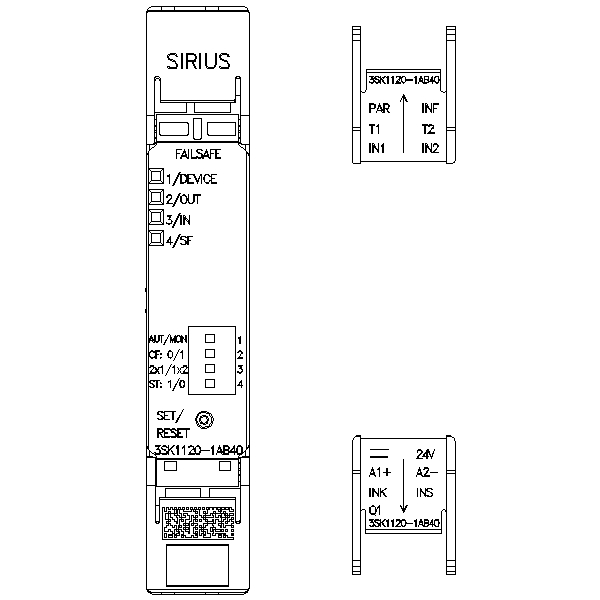 Siemens (3SK1220-1AB40) Input expansion for Safety Relay