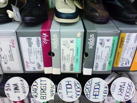 Schuhe Tina, Birgit, Hedda, Holly und Mary