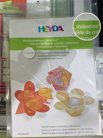 Kreativschablone Valentine