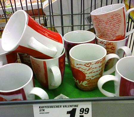 Kaffeebecher Valentine