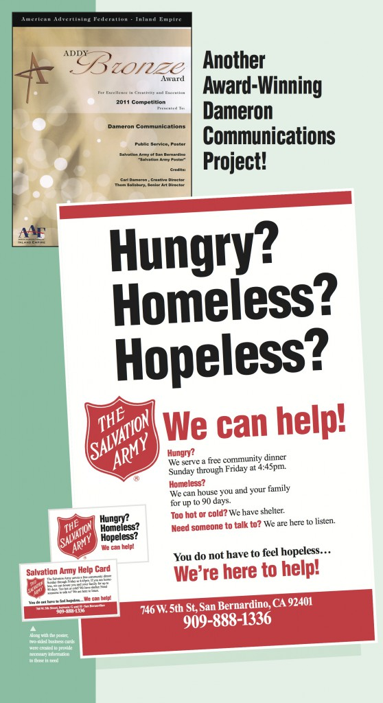 Dameron Communications won a Bronze Award in the Public Service Poster Division in the 2011 competition.