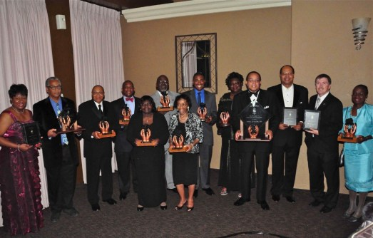 Honoring some of the unsung heroes who have worked diligently to improve the lives of others throughout the Inland Empire, The Black Cultural Foundation awarded the 2011 Black Rose Award to the following award community advocates: (back row left to right)  Juanita Dawson, James Butts, Jimmie Brown, Herb English Jr., John Futch, Mark Campbell, Vicki Lee, Carl Dameron, Timothy Evans from The Unforgettables Foundation, Dr. Queen Hamilton, (left to right front row) Geraldine Reaves, Jennifer Vaughn-Blakely and Dr. Harold Cebrun.  Photo by Chris Sloan.