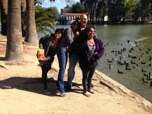 Malaika and her family enjoy a day at Fairmont Park in Riverside, CA.  Left to Right: Shaila, Malaika, Carl and Shiane