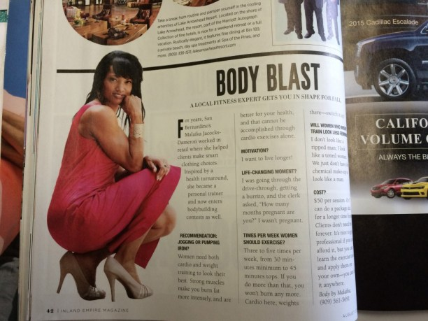 See malaika Jacocks Dameron in Inland Empire magazine August Edition - page 42