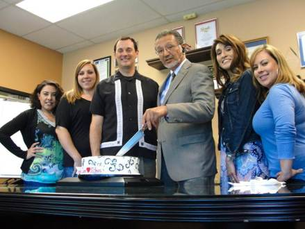 LaSalle Medical Associates, Inc Celebrates 30 years of medical service. Left to right: Anna Canton, Human Resource Manager, Kristina Hlebo, Finance Assistant, Carl Meier, executive vice president, Dr. Albert Arteaga CEO, Alexandra Acosta, Director of Finance and Lizette Noriega, Human Resource AssistantKristina Hlebo, Finance Assistant Alexandra Acosta, Director of Finance Lizette Noriega, Human Resource Assistant