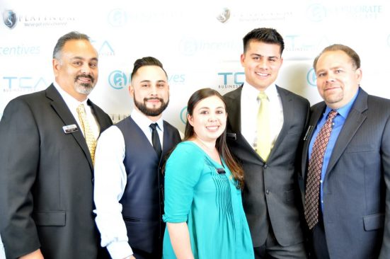 Partners pose for a photo together at the TCA Grand Opening. Joey Sanchez, Nick Sanchez, Jessica Sanchez, Chris Blom and Ray Blom.