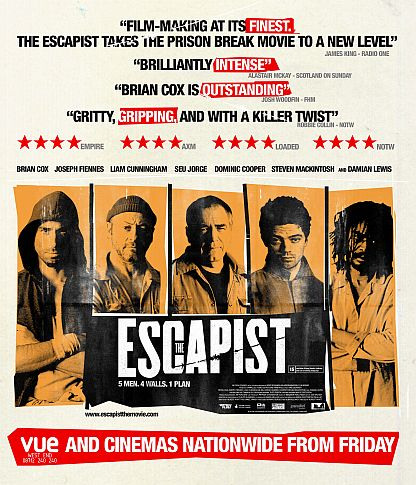 Poster for the UK and Ireland release of The Escapist on June 20th