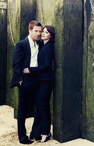 Damian Lewis and Helen McCrory in February issue of  British Vogue
