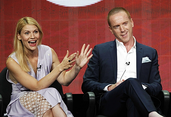 Damian Lewis and Claire Danes at the 2013 Summer TCA Tour