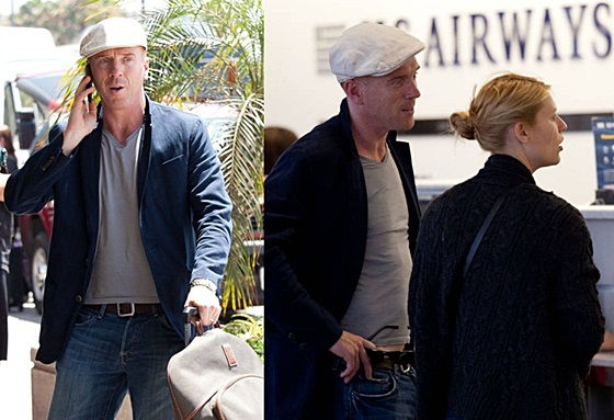 Damian Lewis at LAX Airport on Tuesday