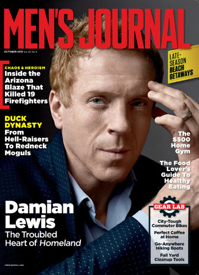 Damian Lewis on the October 2013 cover of Men's Journal