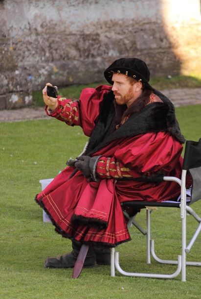 Damian Lewis on the set of 'Wolf Hall' on July 15th