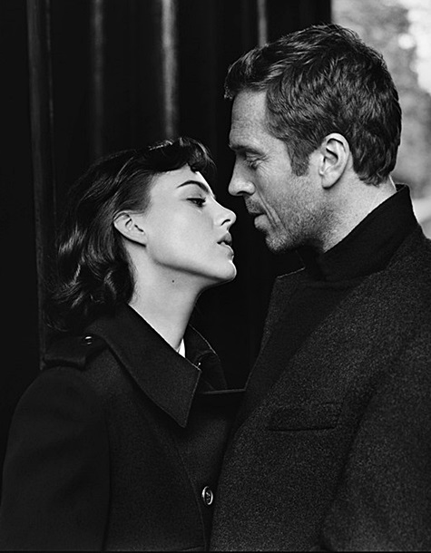 Damian Lewis and Eliza Cummings in a preview of the autumn/winter 2014 Aquascutum campaign