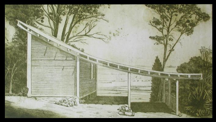 Casas en calcografía