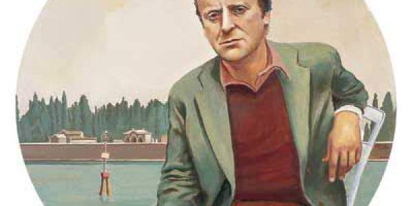 Joseph Brodsky 2002 Óleo sobre madera 50 cm. diám.