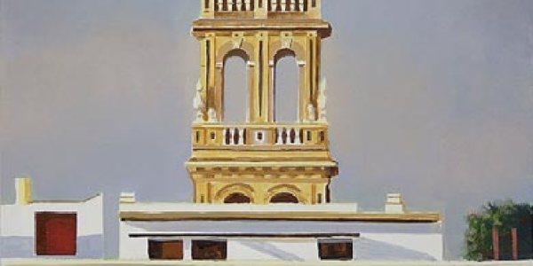 Torre de Santa Ana. Óleo/madera. 42 x 31cm