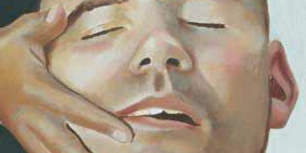Retrato durmiente: Damián 2003 Óleo sobre madera 27 x 17 cm