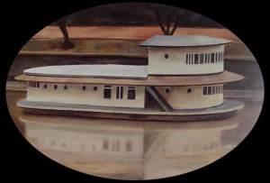 Gallegiante sul Tevere 50 x 70 cm