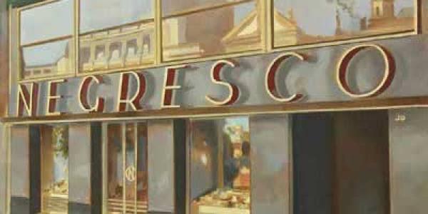 Café Negresco. 2008. Óleo/lienzo. 46×65 cm.