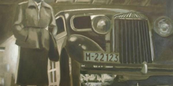 Surcos. 2007. Óleo sobre lienzo. 30×30 cm.