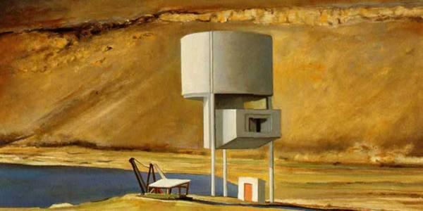 Salinas de Pedra Lume. 2004. Óleo sobre madera. 39 x 58 cm