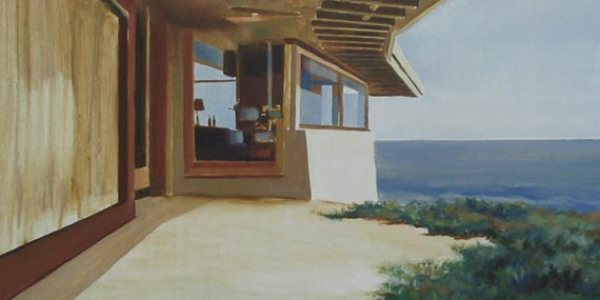 Restaurante de Boa Nova II. Óleo/madera. 35×40 cm