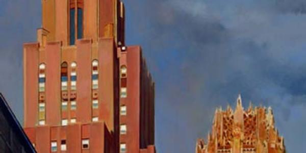 Dueto en Lexington Avenue. 2007. Óleo/madera. 63 x 52 cm