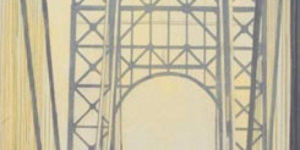 Puente de George Whashington. 2007. Óleo/madera. 60 x 30 cm