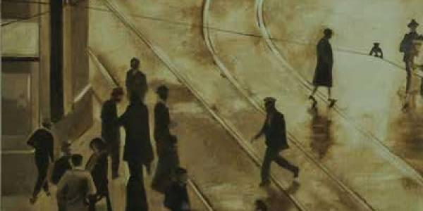 Madrileños en la Red de San Luis, 2010, óleo/lienzo, 24×33 cm.